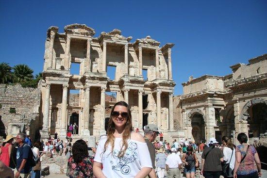 Antigua ciudad de Efeso: eu e a Biblioteca..