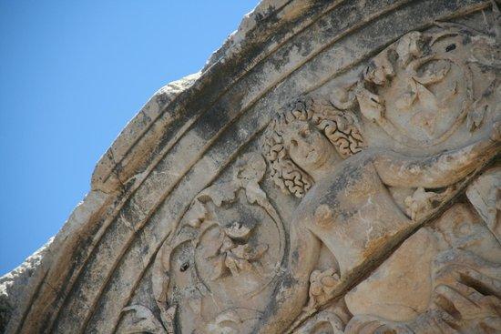Antigua ciudad de Efeso: a medusa..