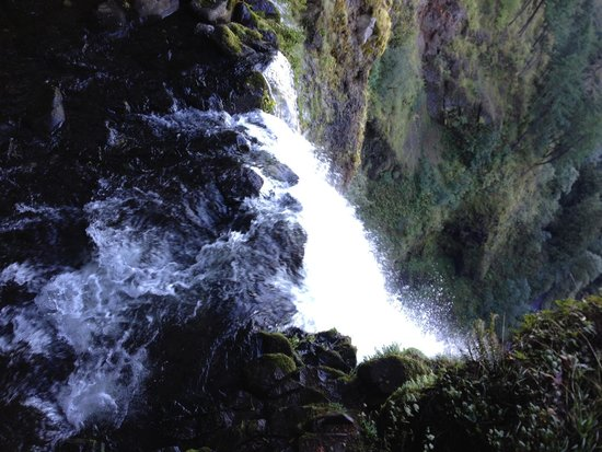 Multnomah Falls: View of the top of the falls.