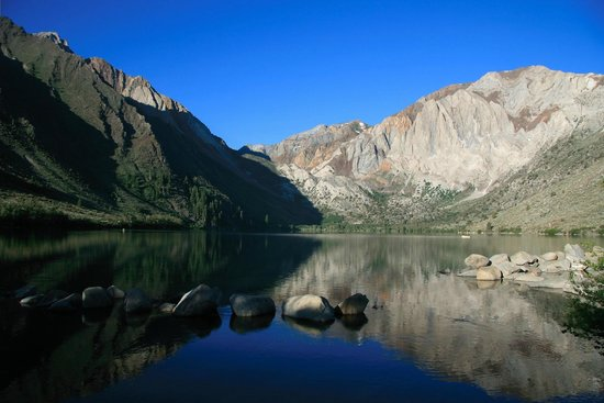 Convict Lake: Early morning before wife got up