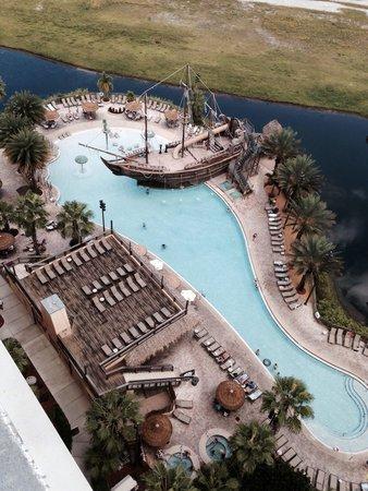 Lake Buena Vista Resort Village & Spa : Pool view from block 5