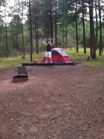 Custer State Park : Campsite at Blue Belle Campground