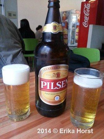 Fans!: A cerveja uruguaia estava bem geladinha