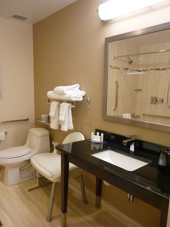 Courtyard by Marriott Montreal Downtown: Salle de bain chambre handicapée