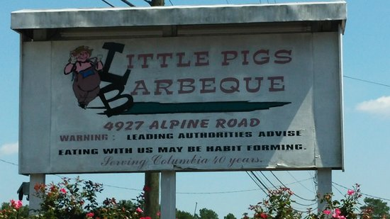 Little Pigs Barbecue: The sign tells the truth!