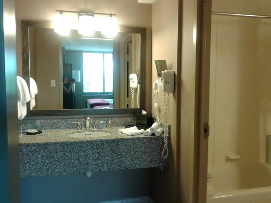 Avenue Suites Georgetown: I loved this vanity area & second sink outside the bathroom