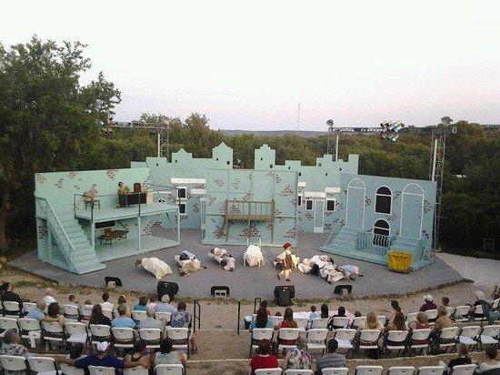 EmilyAnn Theatre & Gardens : The outdoor Patti S. Harrison Main Stage during Annie in 2012.