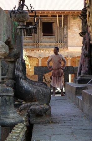 Changu Narayan: Le prêtre du Temple
