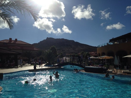 Pestana Porto Santo All Inclusive: Saltwater pool and mountain view
