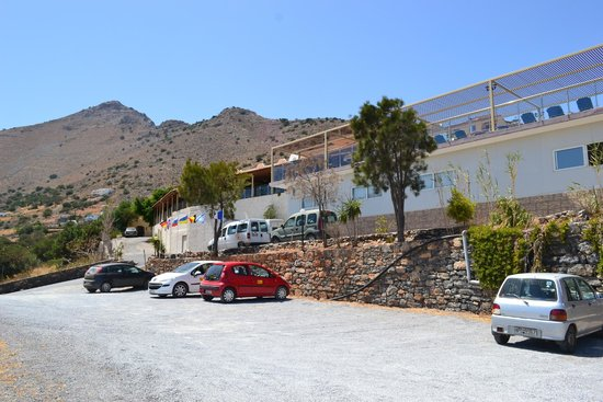 Elounda Water Park Residence : View from car park