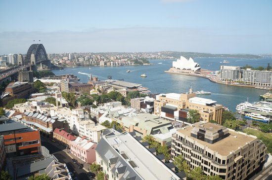 Shangri-La Hotel Sydney : Panoramic view from room