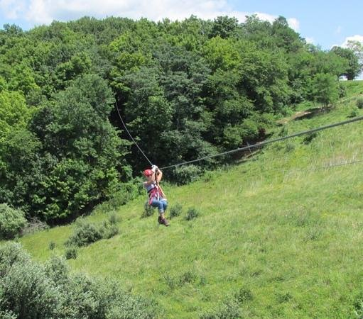 Wild Zipline Safari: here i am, zipping out of the canopy!