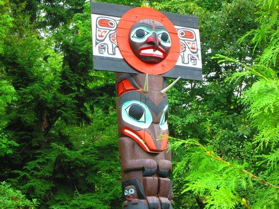 Stanley Park : dalla ciclabile i totem