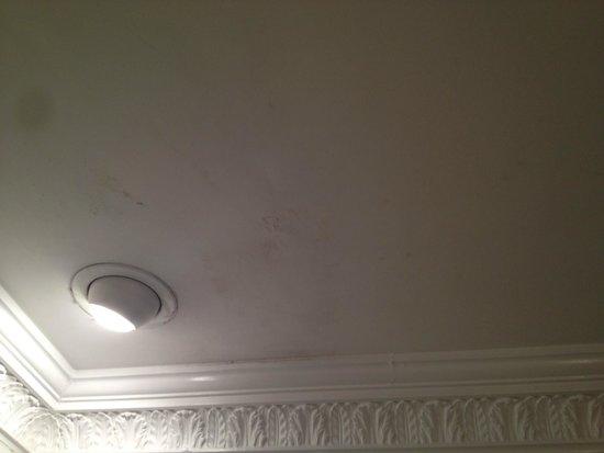 Stonecross Manor Hotel: Tatty Bathroom Ceiling