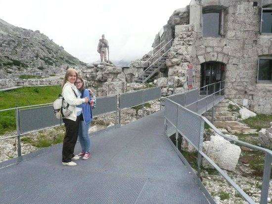 Passo Falzarego: ingresso al forte