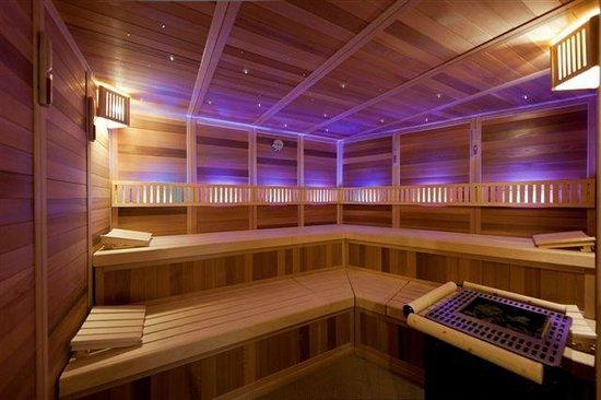 Hotel Belle Vue : sauna interior