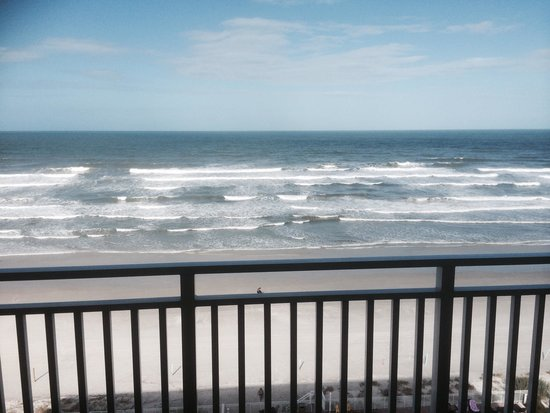 view from balcony picture of hyatt place daytona beach. Black Bedroom Furniture Sets. Home Design Ideas