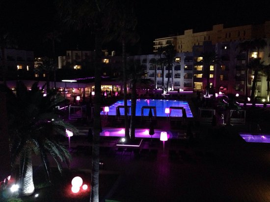 Hotel Garbi Ibiza & Spa: View from room 351 at night (side view)