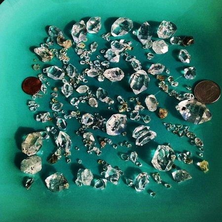 Herkimer Diamond Mines: the loot!