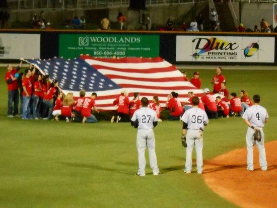 Blue Wahoos Ballpark: Military appreciation night at the Blue Wahoos game.