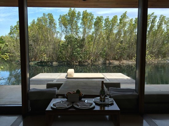 Amanyara: No pool but somewhere to relax by the water in a standard pavilion
