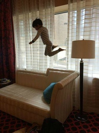 Palomar Chicago, a Kimpton Hotel: Grandson loved the furniture