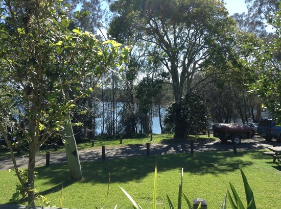 NRMA Myall Shores Holiday Park: View from Pool area/Reception