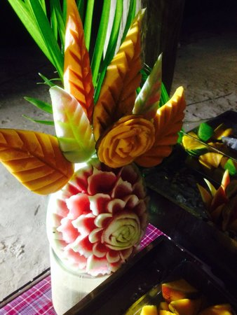 Royalton White Sands Resort: Food art at the weekly beach party - irie