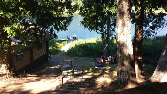 Cusheon Lake Resort: The view from our Log Cabin.