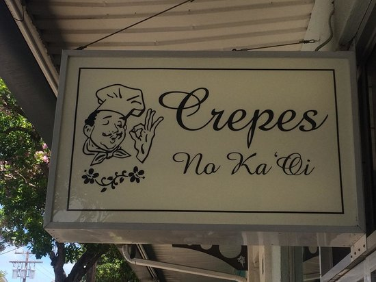 Crepes No Ka 'Oi : 看板です