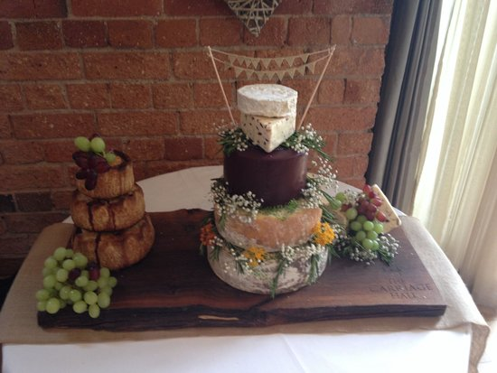 Cheese Wedding Cake And Pork Pie Tower