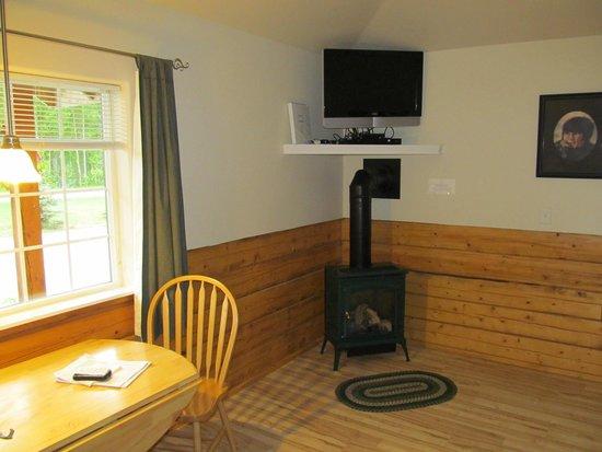 Denali Fireside Cabins & Suites: Warm fireplace
