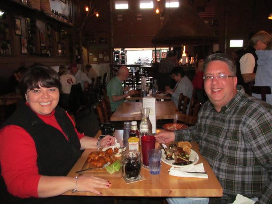 49th State Brewing Company: Enjoying Dinner