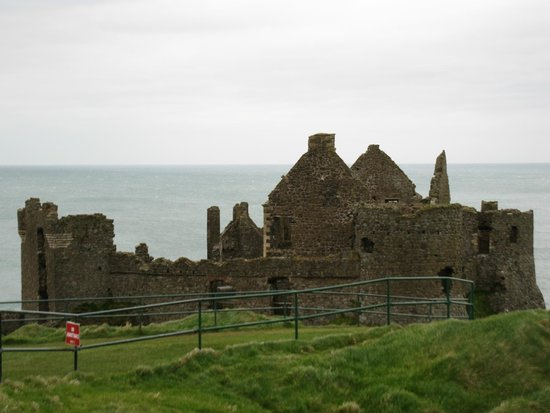 Dunluce Castle: View from carpark
