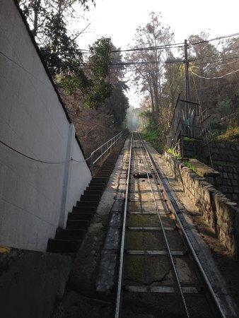Cerro San Cristóbal: subida do funicular.