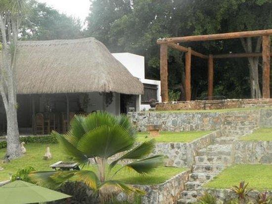 Rinconada del Convento: Breakfast palapa, group area