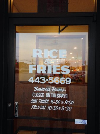 Rice & Fries