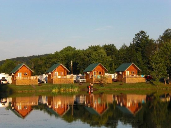 Splash Magic Campground: a few of the cabins that they have for you to rent