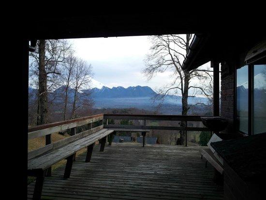 Mirador los Volcanes Lodge & Boutique : Terraza de la cabaña