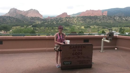 Garden of the Gods: Me at the visitor center