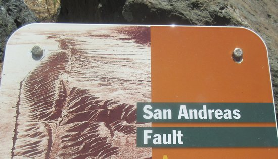 Palm Desert, Californië: San Andreas Fault Sign