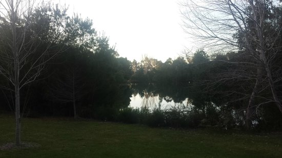 Losari Retreat: Another beautiful view of the lake from the porch.