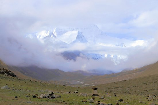 Rongbuk Monastery: View of Everest from Rongbuk.