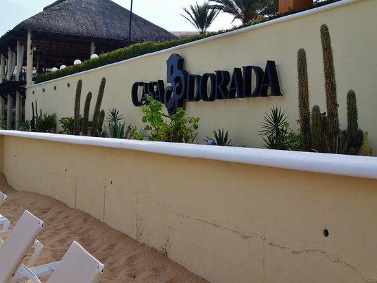 Casa Dorada Los Cabos Resort & Spa: Casa Dorada sign in Beach Area