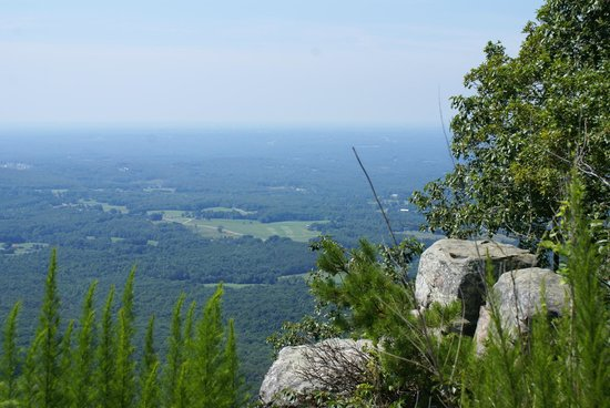 A view from the top of Pilot Mountain