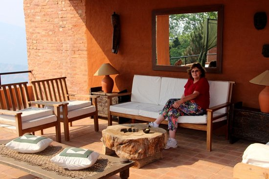 The Dwarika's Resort-Dhulikhel: Outside terrace - lounge area
