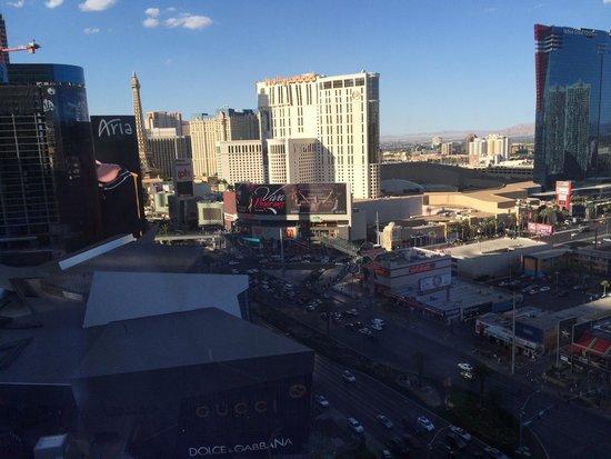 Mandarin Oriental, Las Vegas: Vista dalla camera sulla Strip
