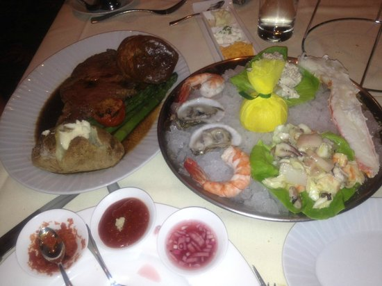Copper Rock Steakhouse: Copper Rock Seafood Tower and Prime Rib