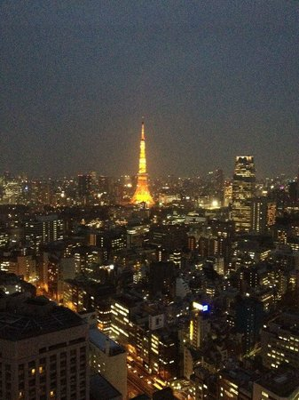 Park Hotel Tokyo: Night time view from room