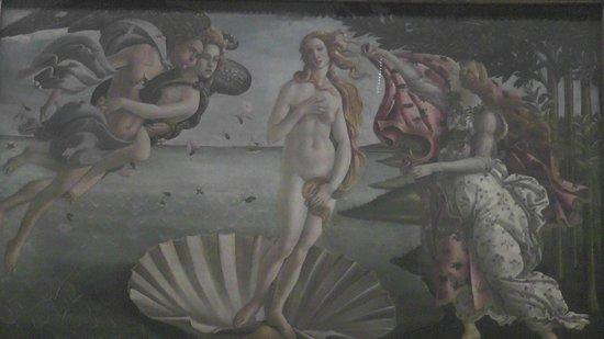 Galería de los Uffizi: The Birth of Venus by Botticelli